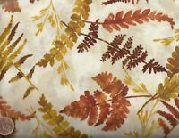 Harvest tan brown gold leaves Timeless Treasures fabric