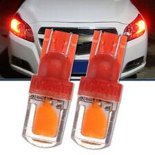 2x T10 194 W5W COB LED Car Super Bright Silica License Plate Light Bulb Red 12V