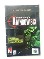 Tom Clancy's Rainbow Six N64 Instruction Booklet Manual Book Only