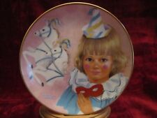 RED MASK collector plate Lorraine Trester LITTLE CLOWNS Circus