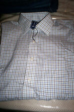 NWT $60 LANESBORO BUTTONDOWN DRESS SPORT SHIRT- WHITE/ BLUE PLAID   15.5  34/35
