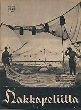 Finland Wartime Magazine Hakkapeliitta 1942 #33 - WWII - Finnish SS-troops