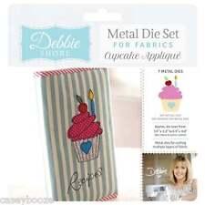 Debbie Shore Metal Die Set For Fabrics - Cupcake Applique - Crafters Companion
