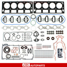 Fit 02-04 Chevrolet GMC Buick Cadillac 4.8 & 5.3 OHV MLS Full Gasket Bolts Set