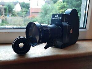 Krasnogorsk 3 : KMZ - 16mm movie camera + Meteor 5 Zoom + Zeiss 50mm in UK