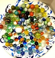 Vintage Lot 140 Marbles Various Sizes and Colors (Bag 6A)