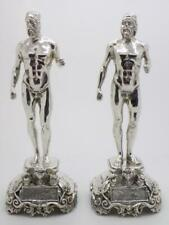 772g/27-oz. Vintage Solid Silver Italian Made Riace Bronzes Statues, Hallmarked