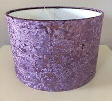 Handmade Lampshade In an Amethyst Velvet, Purple, Lavender, Stunning, 20cm