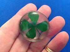 Lucky Four Leaf Clover Pocket Worry Stone Hope Fath Love Luck Real Clover 🍀