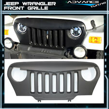 For 97-06 Jeep Wrangler TJ V1 Style ABS Angry Bird Black Front Hood Grill Grille