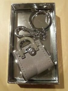 Michael Kors Leather Mini Handbag Bag Key ring Purse Keyring