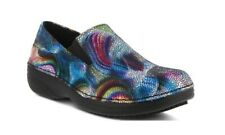 Spring Step Women's Manila Blue Boreal Leather Slip-on Shoes Size 8.5