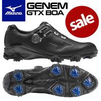 Mizuno Genem GTX BOA Waterproof Men's Golf Shoes Black/Black - NEW! 2020