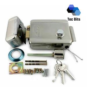 Electric Electronic Door Lock 12V for Doorbell Intercom Access Control With Keys