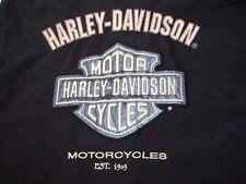 Harley Davidson Mens Black Long Sleeve Full-Zip Biker Jacket M