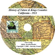 1913 History of Tulare and Kings County California CA
