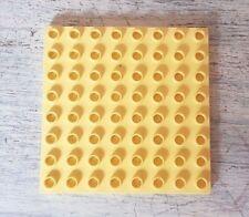 Lego Duplo Base Plate 8 x 8 CREAM LIGHT YELLOW Building Board Part 51262 Good