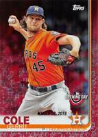 2019 Topps Opening Day Red Foil #73 Gerrit Cole > Houston Astros 🔥⚾🔥