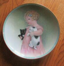 """Friendly Enemies"" Bessie Gutmann Collector's Hamilton Plate w/wall hanger. #34a"