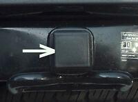 Car Wash Proof Guaranteed 1 1/4 Inch Black Trailer Hitch Receiver Cover Cap Plug