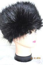 Fur Hat BLACK Russian Cossack Winter Ladies premium Fluffy FauxFur Hat UK seller