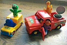 Vintage Sesame Street Toys Lot - Plush Figures and Trucks by KTC (1976)