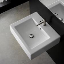 Scarabeo 3 Hole Wall Mount Vessel Bathroom Sink Lavatory Basin Nameeks 8007/B