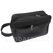 d263ec0cf4a0 New Mens Real Leather Travel Wash Bag Shaving Toiletry Overnight Cosmetic  Case