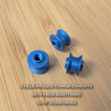 Zero Tolerance ZT0550 ZT 550 Knife MATT BLUE Anodized Custom Titanium Standoffs