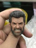 "ELEVEN 1/6 Angry Logan Wolverine Head Sculpt Hugh Jackman For 12"" Figure"