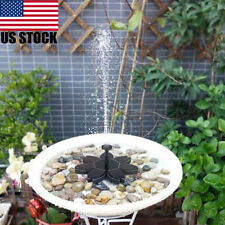 Solar Power Water Pump Floating Panel Pool Garden Pond Landscape + 6 Spray Heads
