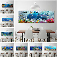 Abstract Wall Decor Art Underwater World Dolphin oil Painting on Canvas No Frame
