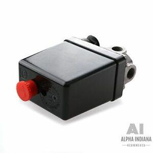 Compresseur dair Interrupteur Pressostat Vanne Controle 20-175 PSI 240V 12 Bar