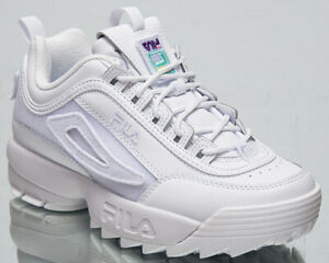 Fila Disruptor Patches Women's White Casual Chunky Lifestyle Sneakers Shoes