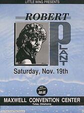 Robert Plant Joan Jett 1988 Tulsa Ok Original Concert Promo Poster Led Zeppelin