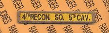 """3rd Armored Division """"4th RECON. SQ. 5th CAV."""" TAB Tank Armor patch"""