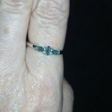 ULTRA Rare Luhlaza Emerald Ring in Sterling Silver 0.39cts Size P - Q
