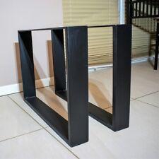 Tischgestell Tischfuß Tisch Kufen Tischbeine Rohstahl 2 Stück 40cm x 30cm