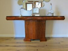 French Art Deco Hall Table in figured Walnut ( restored )