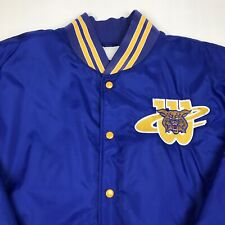 Vintage 90's Clemente Wildcats Softball Blue Embroidered Bomber Jacket Mens 2Xl