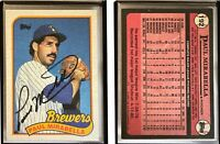 Paul Mirabella Signed 1989 Topps #192 Card Milwaukee Brewers Auto Autograph