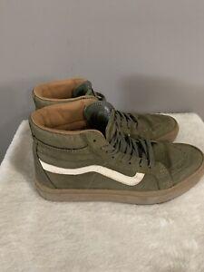 Vans Off the Wall High Top Sneaker Skateboard Shoes Olive Green Men 8 Women 9.5