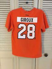 Youth Boy s Reebok Philadelphia Flyers Claude Giroux  28 Orange T-Shirt  Size XL 6e5004396