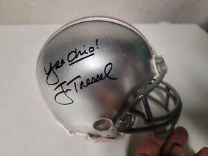 Jim Tressel Signed Autographed Ohio State Mini Helmet  Yea Ohio!