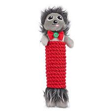 "Time for Joy FESTIVE HEDGEHOG Rope Wrap Dog Toy Squeaker Holiday Christmas 13"""