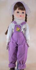 "Vintage Price Products Elaine Porcelain Girl Doll 18"" Brown Hair Blue Eyes 1983"