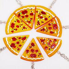 1pc Unisex Pizza Pendant Necklace Best Friends Forever Necklace NUE