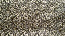 "Mill Creek Basque Ebony black/gold damask fabric 55"" width 3 5/8yds"