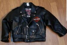 Little boys Harley Davidson moto jacket size 6