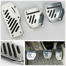 3x Universal Silver Car Non-Slip Foot Pedals Pads Covers Manual Transmission M/T